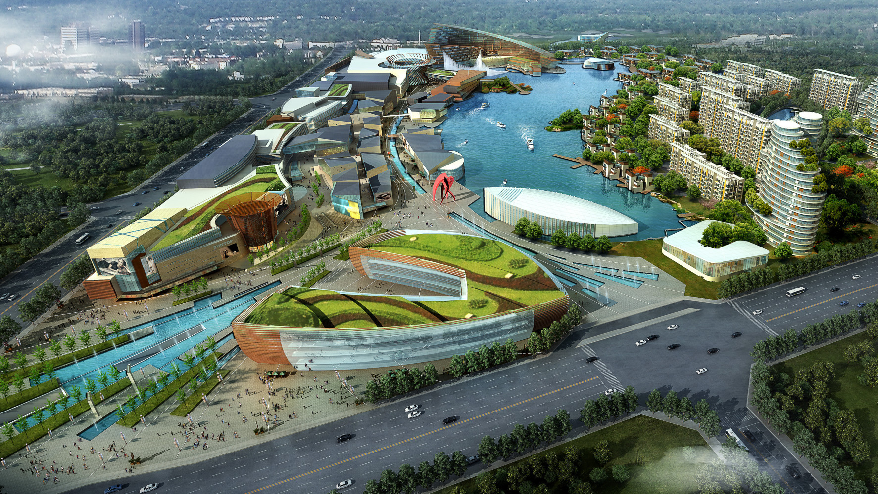 Chengdu Caesars Resort Master Plan, by Archilier Architecture