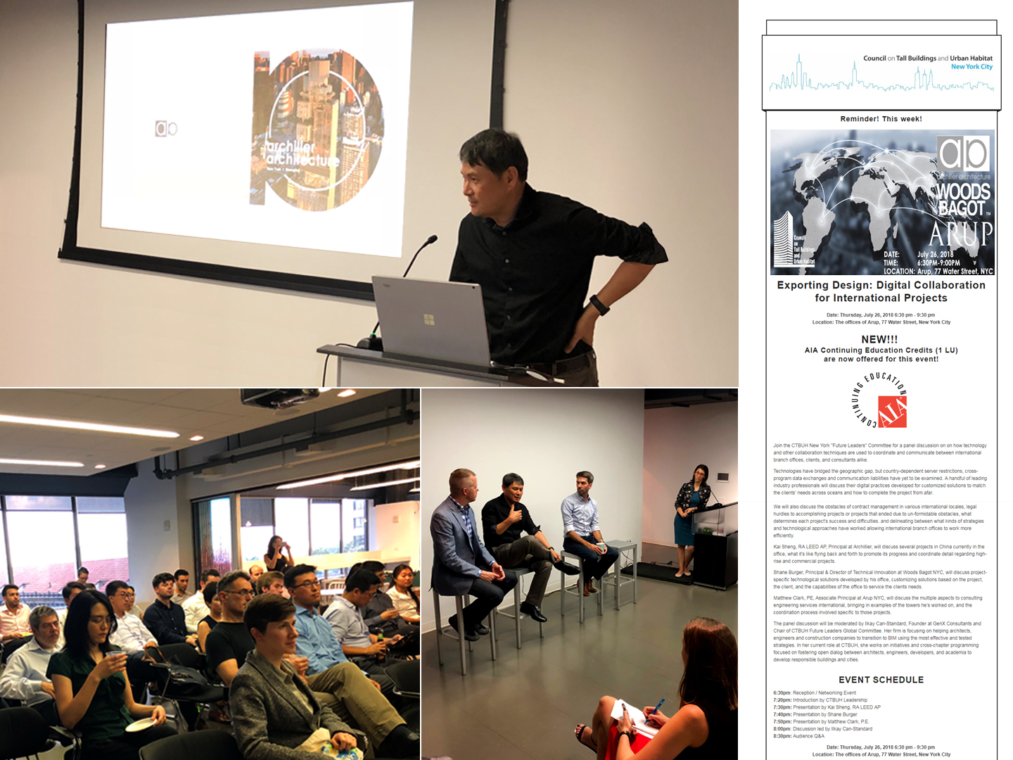 Archilier was invited to share case studies at CTBUH New York event