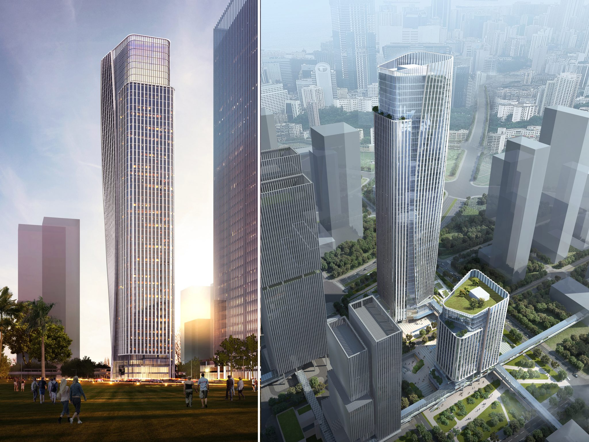 ARCHILIER TEAM WINS INTERNATIONAL COMPETITION TO DESIGN TWO OFFICE TOWERS IN SHENZHEN'S NEWLY-DEVELOPING QIANHAI DISTRICT